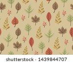 autumn theme seamless pattern...   Shutterstock .eps vector #1439844707