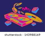 vector turntable pop | Shutterstock .eps vector #143988169