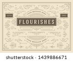 vintage ornaments swirls and... | Shutterstock .eps vector #1439886671