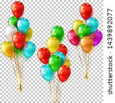 set of realistic color balloons ...   Shutterstock .eps vector #1439892077