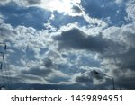 atmosphere of the sky and rain... | Shutterstock . vector #1439894951