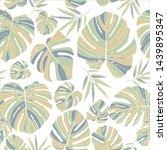 tropical pastel monstera leaves ... | Shutterstock .eps vector #1439895347