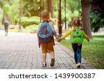 Back To School. Happy Children...