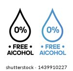 alcohol free vector icon... | Shutterstock .eps vector #1439910227