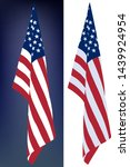 star striped usa flag hanging... | Shutterstock .eps vector #1439924954