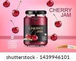 cherry jam vector realistic... | Shutterstock .eps vector #1439946101