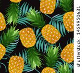 pineapple seamless pattern with ...   Shutterstock .eps vector #1439950631