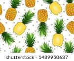 pineapple seamless pattern on...   Shutterstock .eps vector #1439950637
