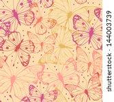 Butterflies  Abstract Seamless...
