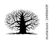 old tree bare  silhouette for... | Shutterstock .eps vector #144006439