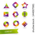 icons set | Shutterstock .eps vector #144007081