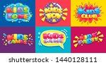 kids club posters. toys fun... | Shutterstock .eps vector #1440128111