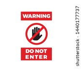 do not enter warning symbol...   Shutterstock .eps vector #1440177737