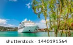 Cruise Ship Docked In Castries...