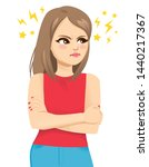 angry teenager girl furious... | Shutterstock .eps vector #1440217367
