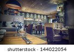 interior of cafe with stylish... | Shutterstock . vector #144022054