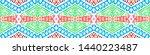 boho repeat. bohemian seamless... | Shutterstock . vector #1440223487