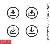 download icon symbol template... | Shutterstock .eps vector #1440227504