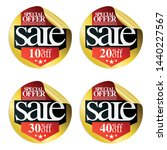gold sale stickers with red... | Shutterstock .eps vector #1440227567