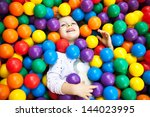 a young blond girl child having ... | Shutterstock . vector #144023995