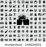 vector auto icons set | Shutterstock .eps vector #144024031