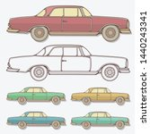 set of classic cars... | Shutterstock .eps vector #1440243341