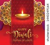 diwali  deepavali or dipavali... | Shutterstock .eps vector #1440249164
