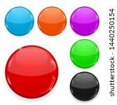 colored glass buttons isolated... | Shutterstock . vector #1440250154