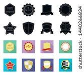 vector design of emblem and...   Shutterstock .eps vector #1440266834
