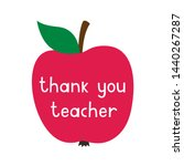 thank you teacher  card with a... | Shutterstock .eps vector #1440267287
