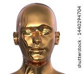 3d Illustration Of Golden Man...