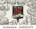 fast food illustrations  burger ... | Shutterstock .eps vector #1440331274
