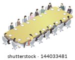 meeting | Shutterstock . vector #144033481