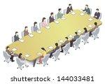 meeting | Shutterstock . vector #144033481