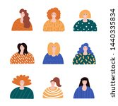 women collection. background ...   Shutterstock .eps vector #1440335834