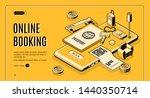 booking tickets  reserving... | Shutterstock . vector #1440350714