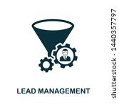 lead management vector icon... | Shutterstock .eps vector #1440357797