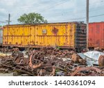 Old Boxcar And Railroad Junk...