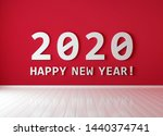2020   happy new year  text on...   Shutterstock . vector #1440374741