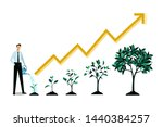 investment and finance growth... | Shutterstock .eps vector #1440384257
