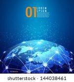 world mesh digital... | Shutterstock .eps vector #144038461