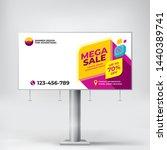 mega sale  billboard design ... | Shutterstock .eps vector #1440389741