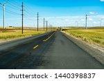 a county road in sherman county ... | Shutterstock . vector #1440398837