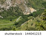 road in the mountains in... | Shutterstock . vector #144041215