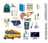 back to school flat design | Shutterstock .eps vector #1440412457