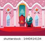 king in the castle fairytale... | Shutterstock .eps vector #1440414134