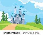 castle building fairytale in... | Shutterstock .eps vector #1440416441