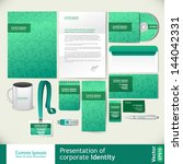 green corporate style | Shutterstock .eps vector #144042331