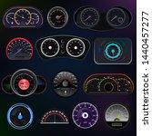 speedometer vector car speed... | Shutterstock .eps vector #1440457277
