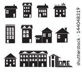 home and apartment vector icons ... | Shutterstock .eps vector #144048319